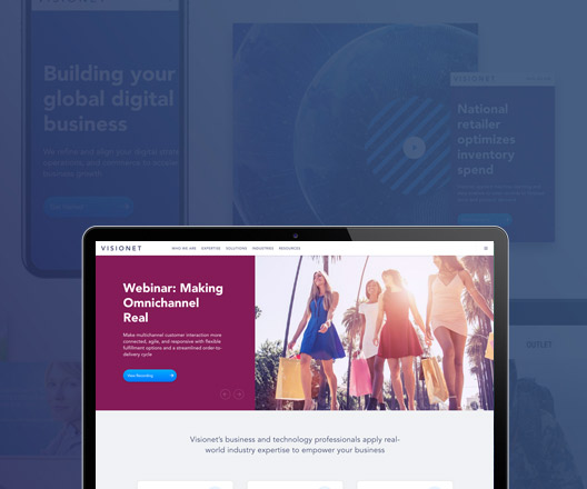 Visionet new website launch